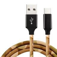 Camouflage Leather Wrap USB-C (Type-C) Charge and Sync Cable - Desert