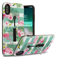Finger Loop Case with Kickstand for iPhone XS Max - Tropical Flamingo