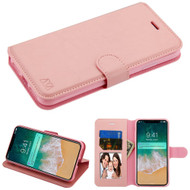 Book-Style Leather Folio Case for iPhone XS Max - Pink