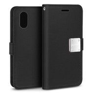 Essential Leather Wallet Case for iPhone XS Max - Black