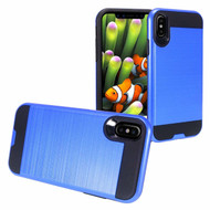 Brushed Coated Hybrid Armor Case for iPhone XS Max - Blue