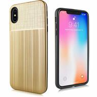 Double Texture Anti-Shock Hybrid Protection Case for iPhone XS Max - Gold
