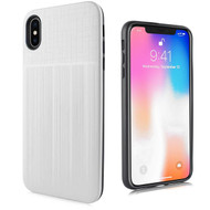 *Sale* Double Texture Anti-Shock Hybrid Protection Case for iPhone XS Max - Silver
