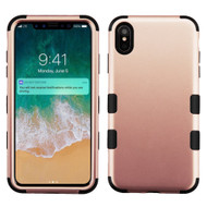 Military Grade Certified TUFF Hybrid Armor Case for iPhone XS Max - Rose Gold 059