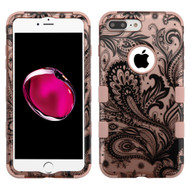 Military Grade Certified TUFF Hybrid Armor Case for iPhone 8 Plus / 7 Plus - Phoenix Flower Rose Gold