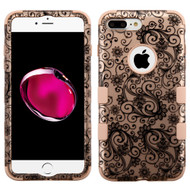 Military Grade Certified TUFF Hybrid Armor Case for iPhone 8 Plus / 7 Plus - Leaf Rose Gold