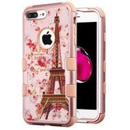 Military Grade Certified TUFF Hybrid Armor Case for iPhone 8 Plus / 7 Plus - Paris in Full Bloom Rose Gold