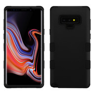 Military Grade Certified TUFF Hybrid Armor Case for Samsung Galaxy Note 9 - Black 001