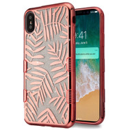 Tuff Lite Quicksand Electroplating Case for iPhone XS Max - Dancing Palm Leaves