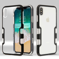 TUFF Panoview Transparent Hybrid Case for iPhone XS Max - Black