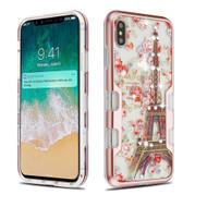 TUFF Panoview Diamond Transparent Hybrid Case for iPhone XS Max - Paris in Full Bloom