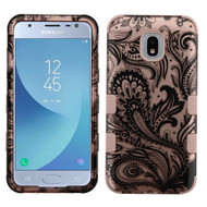 Military Grade Certified TUFF Hybrid Armor Case for Samsung Galaxy J3 (2018) - Phoenix Flower Rose Gold