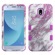 Military Grade Certified TUFF Hybrid Armor Case for Samsung Galaxy J3 (2018) - Marble Pink