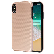 Carbon Fiber Hybrid Case for iPhone XS Max - Rose Gold