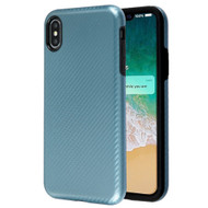 Carbon Fiber Hybrid Case for iPhone XS Max - Blue