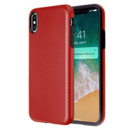 Carbon Fiber Hybrid Case for iPhone XS Max - Red