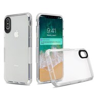 Transparent Protective Bumper Case for iPhone XS Max - White