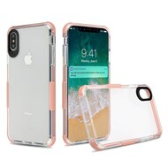Transparent Protective Bumper Case for iPhone XS Max - Rose Gold