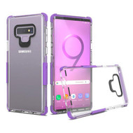 Transparent Protective Bumper Case for Samsung Galaxy Note 9 - Purple