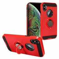 *Sale* Sports Hybrid Armor Case with Smart Loop Ring Holder for iPhone XS Max - Red