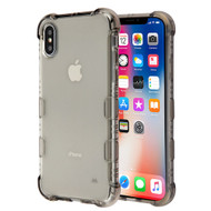 TUFF Klarity Electroplating Transparent Anti-Shock TPU Case for iPhone XS / X - Smoke
