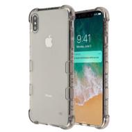 TUFF Klarity Electroplating Transparent Anti-Shock TPU Case for iPhone XS Max - Smoke