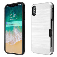 ID Card Slot Hybrid Case for iPhone XS Max - Silver