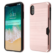 ID Card Slot Hybrid Case for iPhone XS Max - Rose Gold