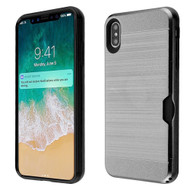 ID Card Slot Hybrid Case for iPhone XS Max - Grey
