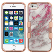Military Grade Certified TUFF Image Hybrid Case for iPhone SE / 5S / 5 - Marble Rose Gold