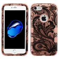 Military Grade Certified TUFF Hybrid Armor Case for iPhone 8 / 7 - Phoenix Flower Rose Gold