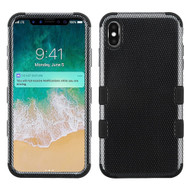 Military Grade Certified TUFF Hybrid Armor Case for iPhone XS Max - Carbon Fiber