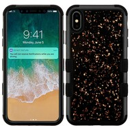 Military Grade Certified TUFF Hybrid Armor Case for iPhone XS Max - Flakes Black