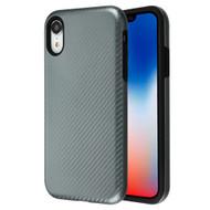 Carbon Fiber Hybrid Case for iPhone XR - Grey