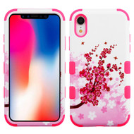 Military Grade Certified TUFF Hybrid Armor Case for iPhone XR - Spring Flowers