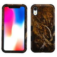 Military Grade Certified TUFF Hybrid Armor Case for iPhone XR - Tree Camouflage