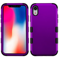 Military Grade Certified TUFF Hybrid Armor Case for iPhone XR - Purple