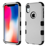Military Grade Certified TUFF Hybrid Armor Case for iPhone XR - Grey