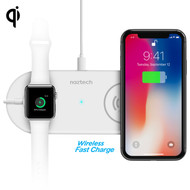 Naztech Power Pad Duo Adaptive Fast Wireless Qi Charger - White