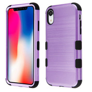 Military Grade Certified Brushed TUFF Hybrid Case for iPhone XR - Purple