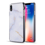 Marble IMD Soft TPU Glitter Case for iPhone XR - Purple