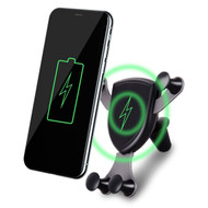 Gravity Sensing Air Vent Mount Qi Wireless Charging Pad 5W Charger - Black
