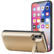 *SALE* Smart Power Bank Battery Charger Case 5000mAh with Integrated Kickstand for iPhone XS / X - Gold