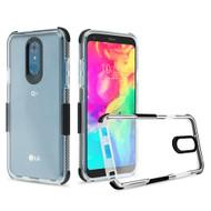 Transparent Protective Bumper Case for LG Q7 Plus - Black