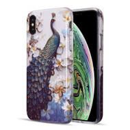 Artistry Collection Glitter TPU Case for iPhone XS Max - Peacock