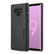 Infinity Series Executive TPU Case with Card Slot for Samsung Galaxy Note 9 - Black
