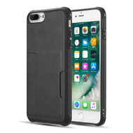 Infinity Series Executive TPU Case with Card Slot for iPhone 8 Plus / 7 Plus / 6S Plus / 6 Plus - Black