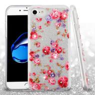 Full Glitter Diamond Hybrid Protective Case for iPhone 8 / 7 - Vintage Rose Bush