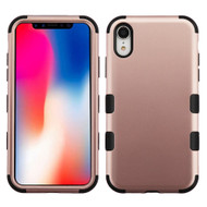 Military Grade Certified TUFF Hybrid Armor Case for iPhone XR - Rose Gold 059