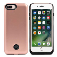 Smart Power Bank Battery Case 9000mAh and Tempered Glass Screen Protector for iPhone 8 Plus / 7 Plus - Rose Gold